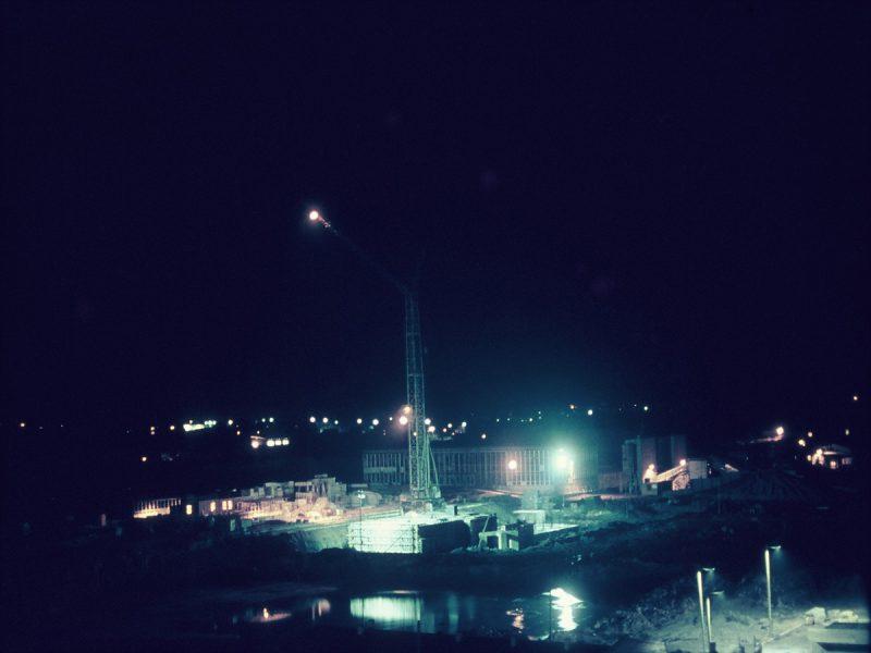 Bau bei Nacht, Stadtzentrum - 1971