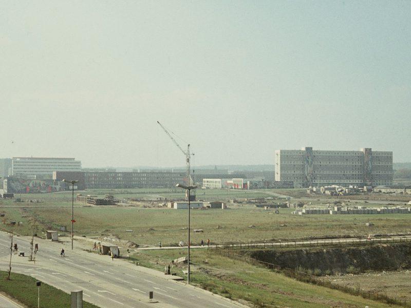 Beginn Bau Punkthochhaus - 1967
