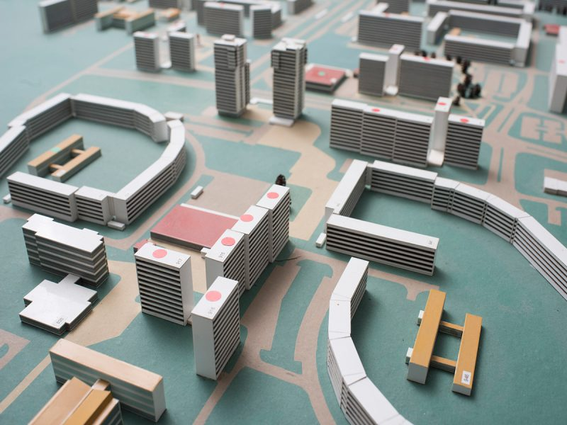 Das Stadtmodell aus der Neustädter Geschichtswerkstatt