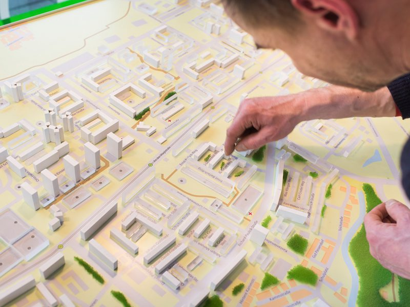Das Stadtmodell im Wohngucker
