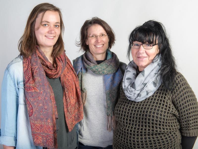 Jasmin Brückner, Melanie Holtemöller, Margarethe Blümel (v. l. n. r.)