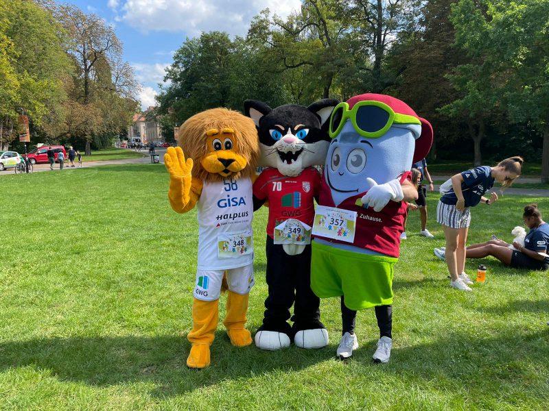 Paul Platte mit Wildcat der SV Union und Balleo der GISA Lions